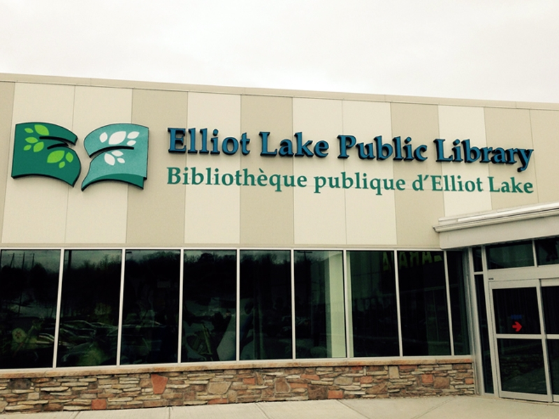Elliot Lake Library - Routed Letters